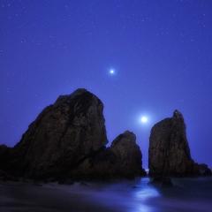 Júpiter, Vénus, Lua. Pedra da Cruz.